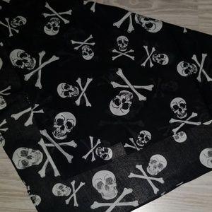 Other - Skull and Bones Cotton Bandana